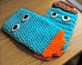 SALE-Agent P/Perry the Platypus Adult Fingerless Gloves