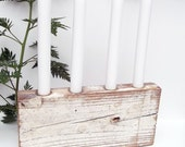 Reclaimed Wood Taper Candle Holder
