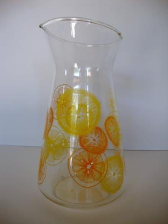 Retro Vintage Pyrex Citrus Pitcher / Carafe