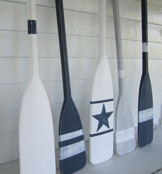 Items Similar To 36 Navy Blue Distressed Paddle Oar With