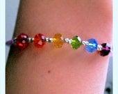 "Rainbow ""Pride"" Swarovski Crystal Bracelet with Magnetic Clasp"