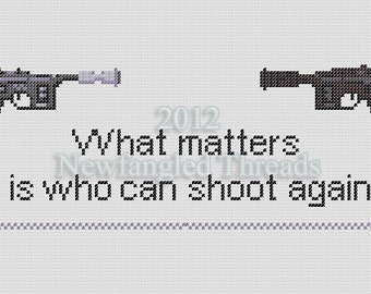 star wars cross stitch pattern what matters is who can shoot again