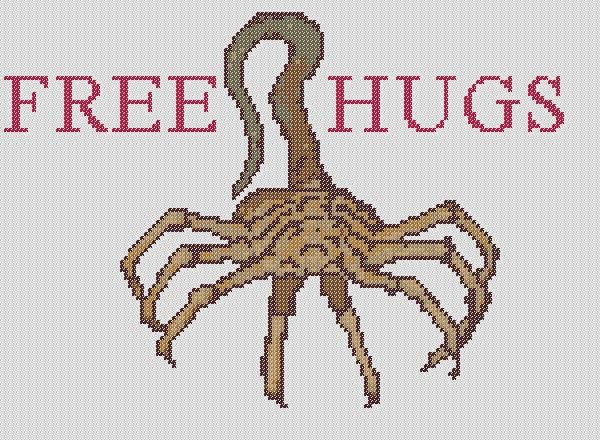 free hugs facehugger pattern