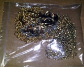 Bag of recycled chain - Various types - gold tone & silver tone