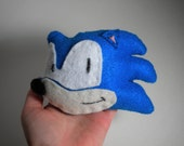 Sonic the Hedgehog inspired hand-sewn plush toy