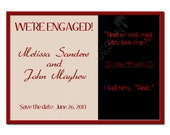 Printable Engagement Announcement.  Save the Date.