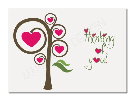 Nifty image in free printable thinking of you cards