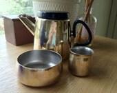 RARE 1970's Henning Koppel for Georg Jensen Brass Tea Set