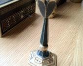 Vintage Brass Shabbat Kodesh Candlestick
