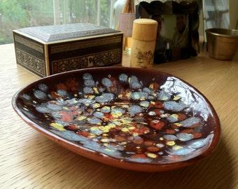 Rare Vintage Carlos Vizeu for Ceramica Dos Sasais, LDA Art Plate