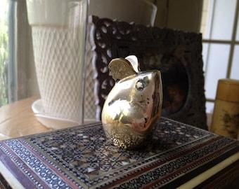SALE - Vintage Brass Mouse
