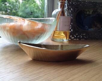 Vintage Solid Brass Boat
