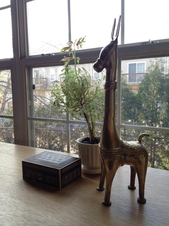 SALE - Vintage Brass Peruvian Llama/Alpaca