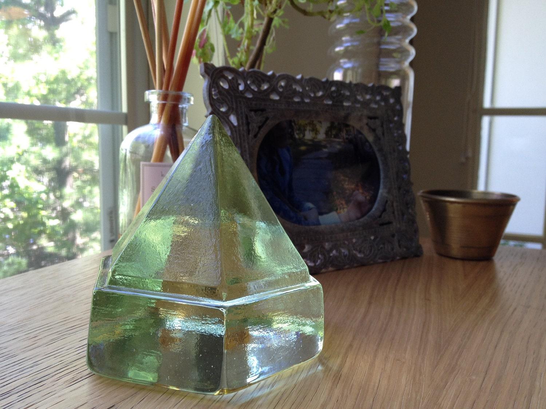 Vintage Green Glass Deck Prism Sale
