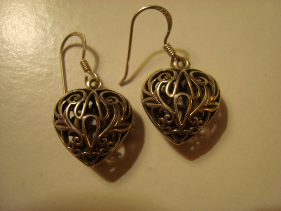 Sterling Open Heart Earrings