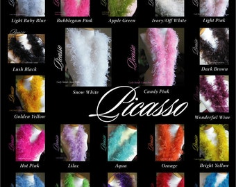 """6"""" Strips - for Curly Ostrich Feather Strip -  DIY for Curly Puffs Twist  - 6-inch strip of curly ostrich feathers - You PICK the Colors"""