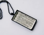Dictionary Word Necklace