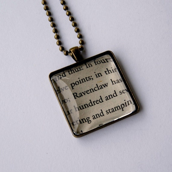 Harry Potter Book Page Necklace