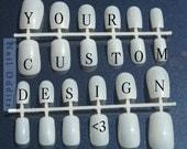Custom nail art set (2 sets of 12 nails)