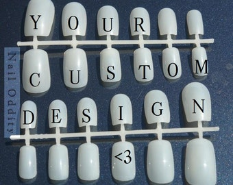 Custom nail art set (2 sets of 12 nails)