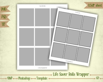 Life Saver Rolls Wrappers - Digital Collage Sheet Layered Template - (T060)