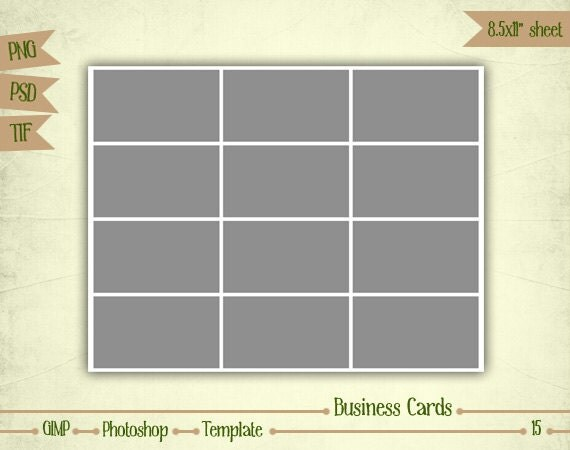 Business Cards - Digital Collage Sheet Layered Template - (T015)