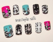Hand-Painted Anarchy in the UK Nail Set