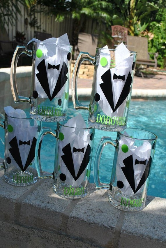 Custom listing for Lauren   Groomsmen Personalized Beer Mugs