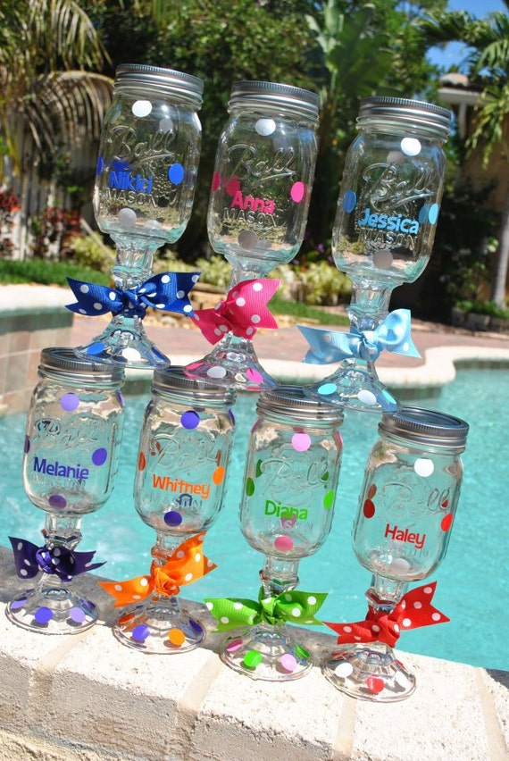 Redneck Wine glasses, personalized, bridal party or hostess gift