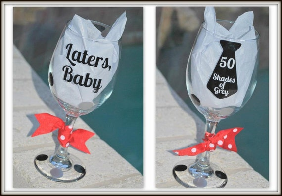 50 Shades of Grey Wine Glass