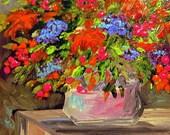 Original Abstract Floral Miniature