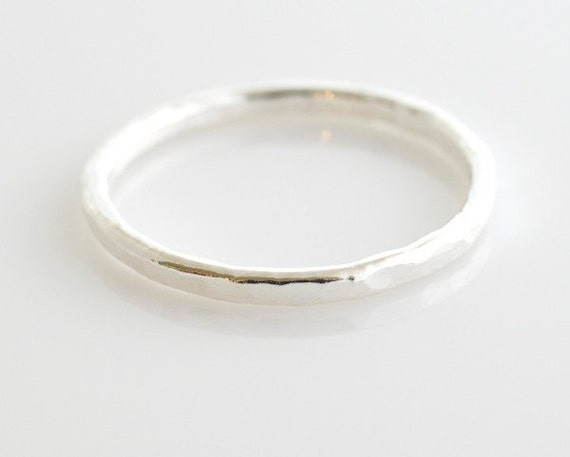 Fine Silver Ring - Stacking Ring - Silver Ring - Silver Band - Size 7 Ring