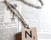 Scrabble Letter Tile Necklace