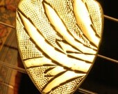 Artisan Handmade Brass Guitar Pick ... Bright & Smooth ... Free Worldwide Shipping