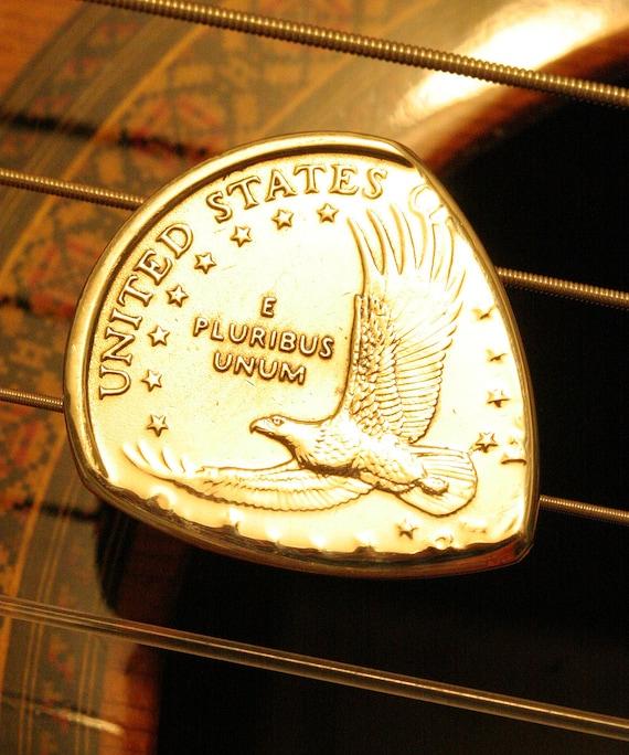 USA Eagle Gold Dollar Coin Guitar Pick for Acoustic and Electric Guitar, Bass, Mandolin, Ukulele, Dulcimer