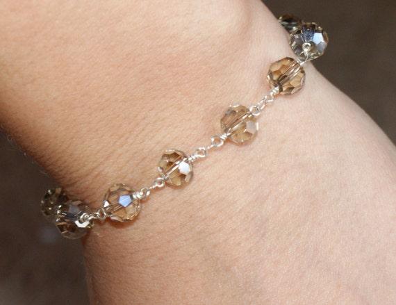 Sterling Silver Crystal Bracelet