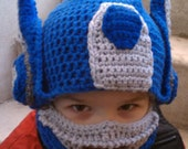 Crochet pattern, Robot to semi hat, sizes toddler to adult, permission to sell