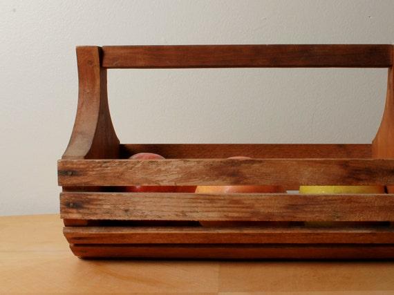 Apple Basket - Wood - Hand Basket - Mid Century