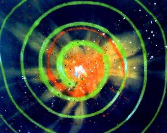 Through The Mire Series: Blue Green radial Pop Art