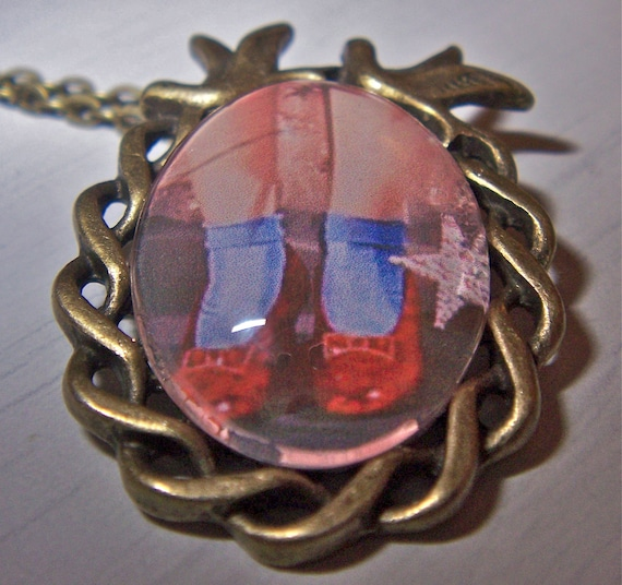 Ruby Red Slippers Wizard Of Oz necklace