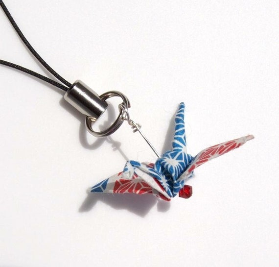 Reserved for S.L. Jennings - Origami Crane Nook or Cell Charm
