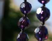 Vintage 1970s diamond cut purple bead necklace -beautifully faceted