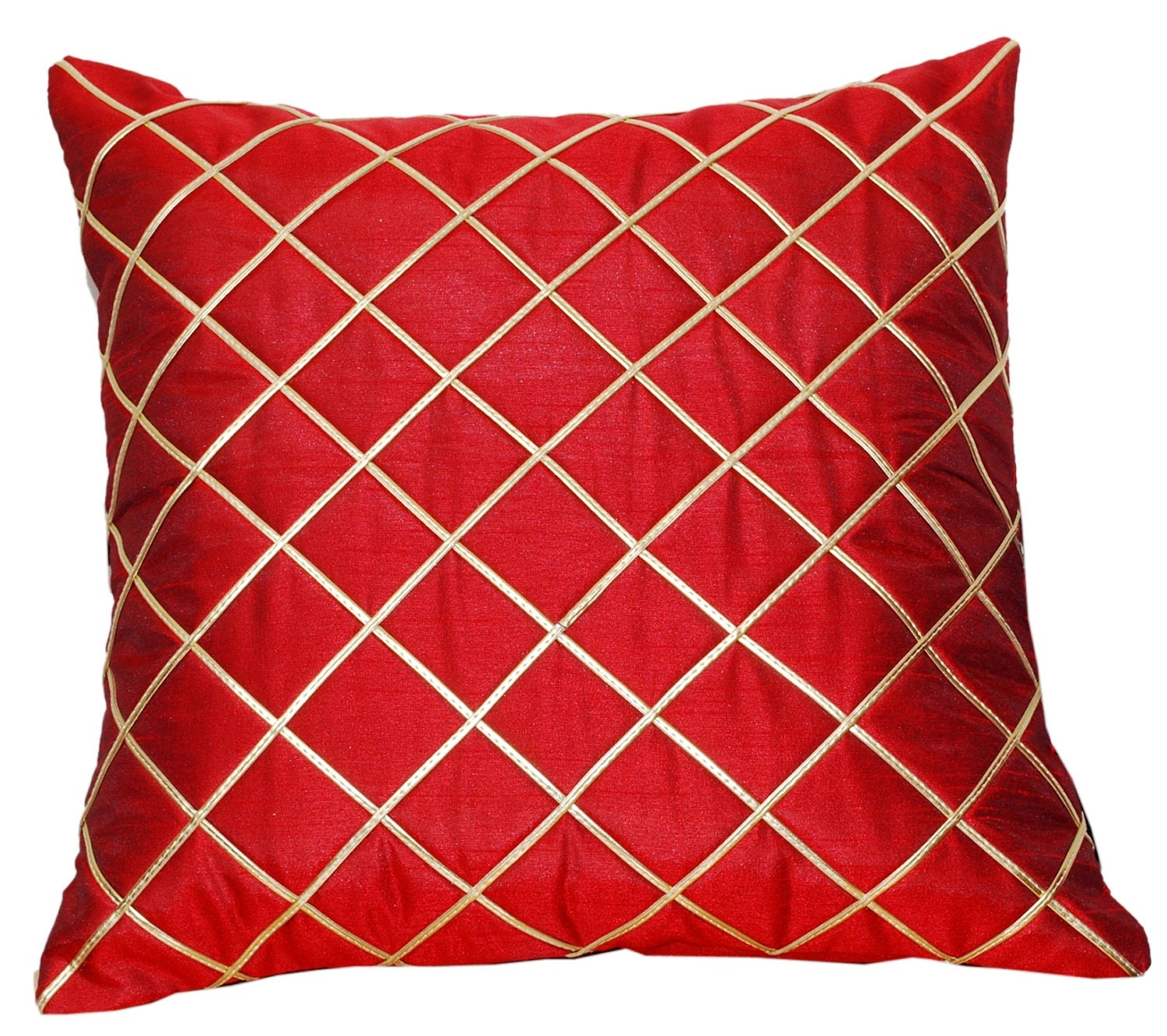 Diamond Throw Pillow Red Pillow Cover Throw Pillow Cover