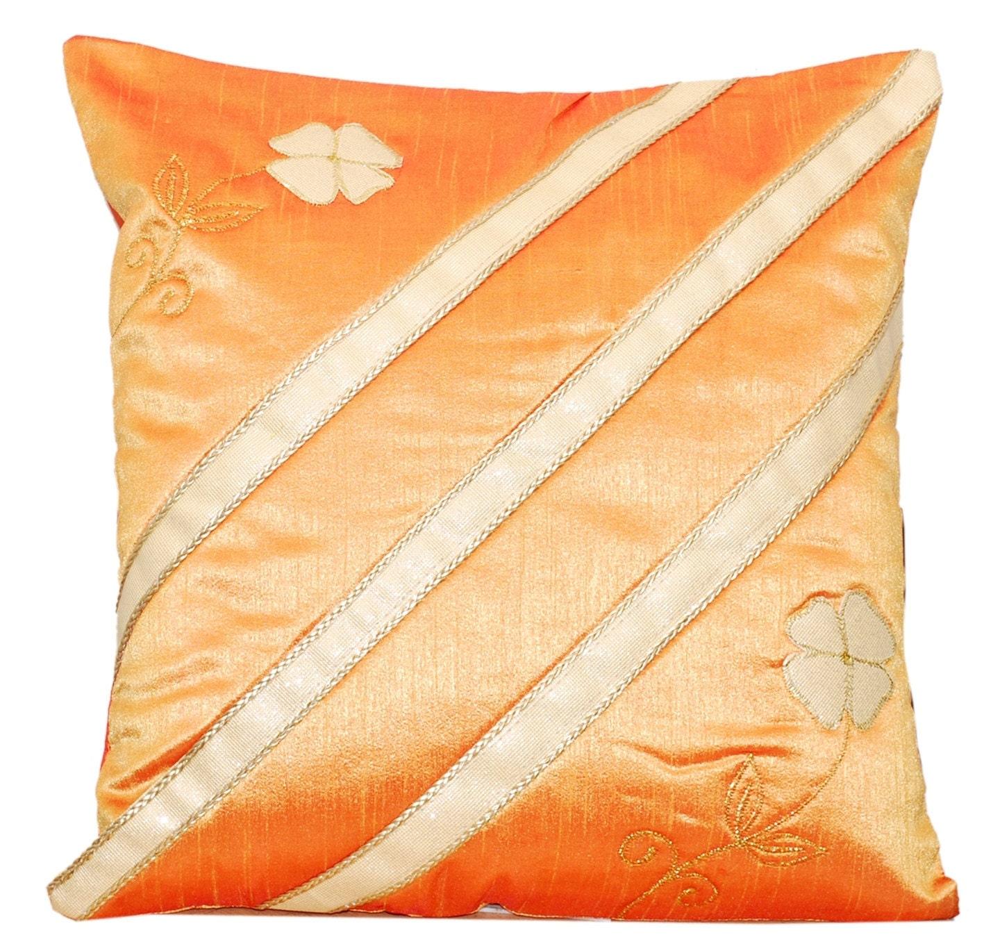 Throw Pillow Orange : Orange Throw Pillow Orange Pillow Decorative Throw Pillow