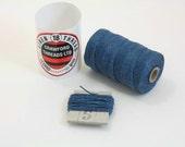 royal blue waxed linen thread, 4-ply, 5m