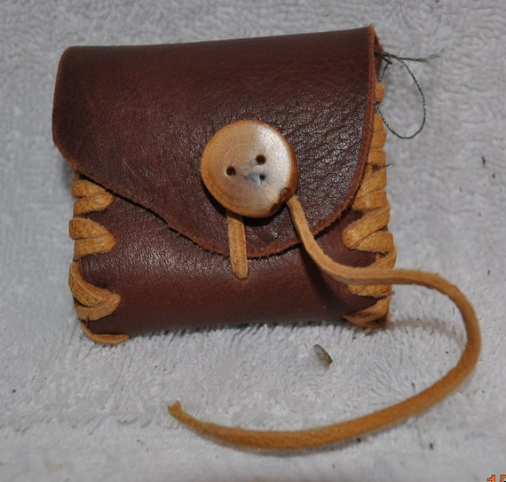 Small leather pouch, for whatever you want......