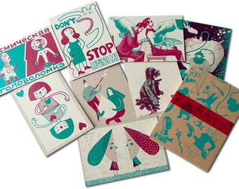 8 silkscreens CARDS of love (4th edition)