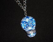 LA Dodgers Sugar Skull - Custom Necklace