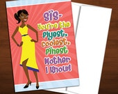 Fly, Cool African American Mom - Colorful Mother's Day Card