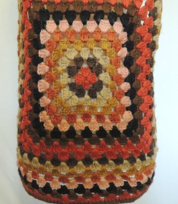 Vintage 70s Crochet Vest Hippie